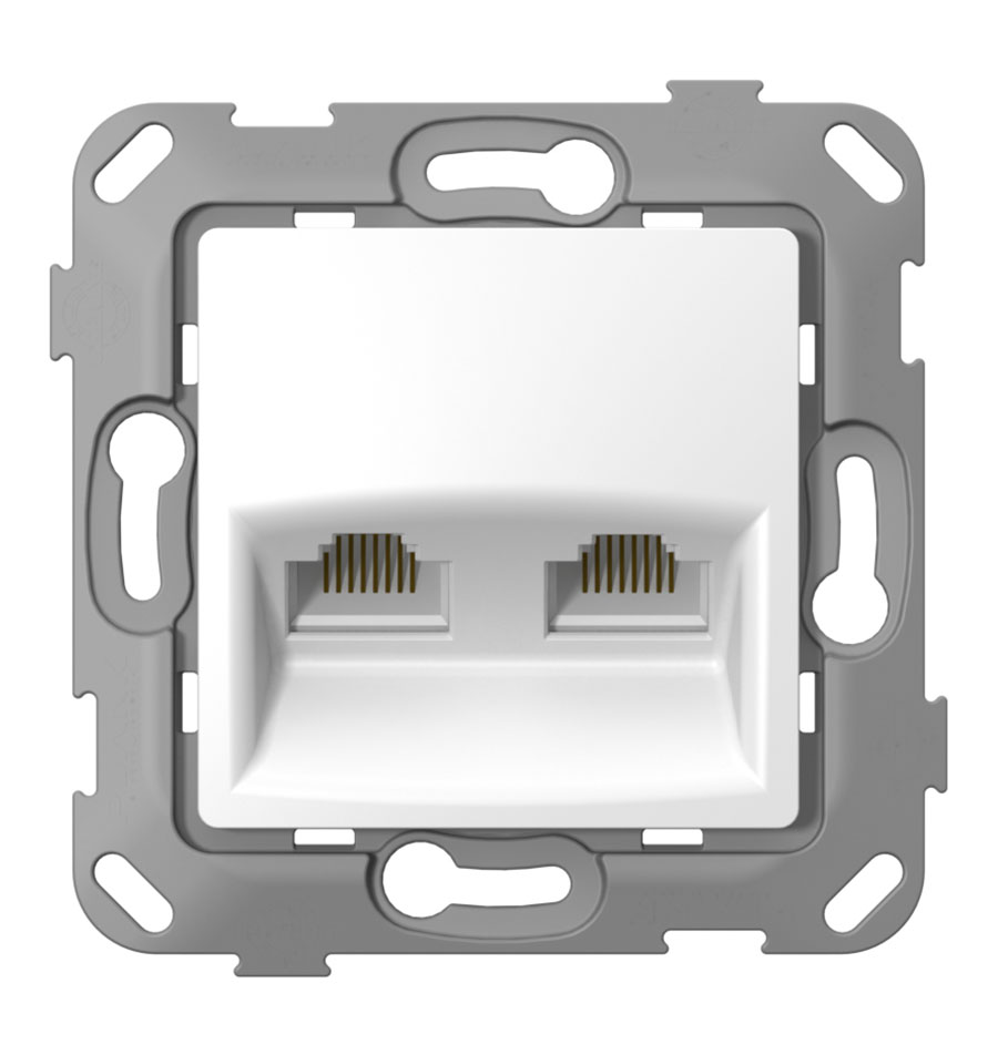 Комп'ютерна розетка подвійна з композитним супортом image