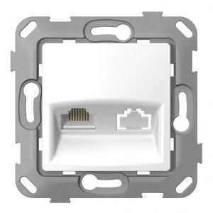 Комп'ютерна розетка одинарна з композитним супортом