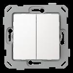 Механізм двоклавішний білий Classic та Nordic композитний супорт