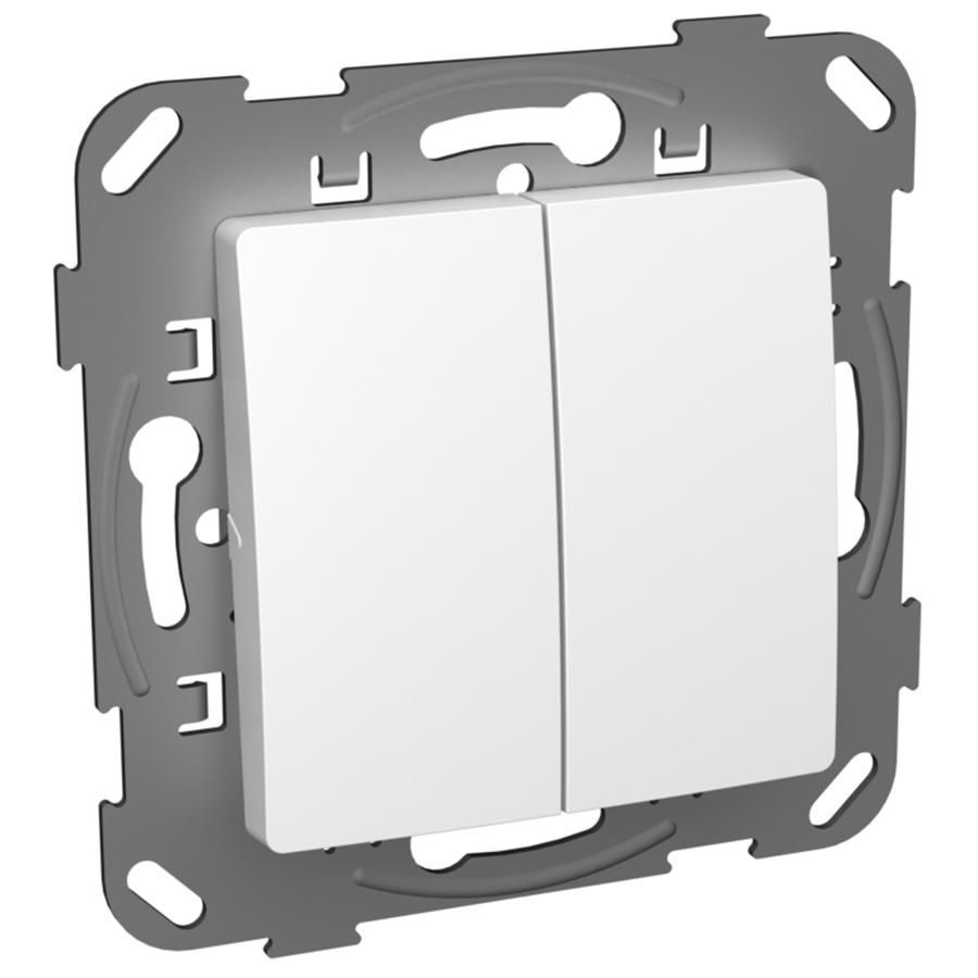 Кнопка-вимикач без фіксації двоклавішна з метелевим супортом image
