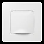 Nordic серія розетка з кришкою з рамкою білого кольору