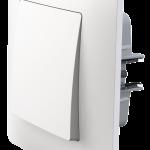 Classic одноклавішний вимикач з рамкою білого кольору