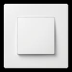 Nordic одноклавішний вимикач з рамкою білого кольору