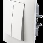 Classic двоклавішний вимикач з рамкою білого кольору