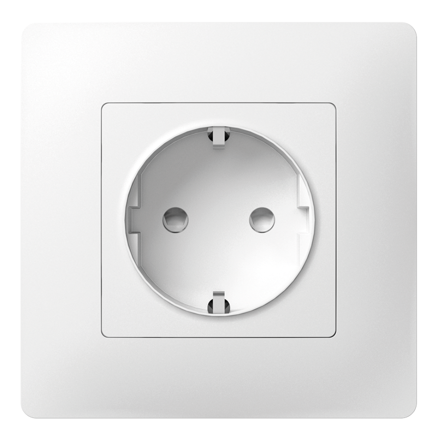 Розетка з заземленням з захисною шторкою з металевим супортом image