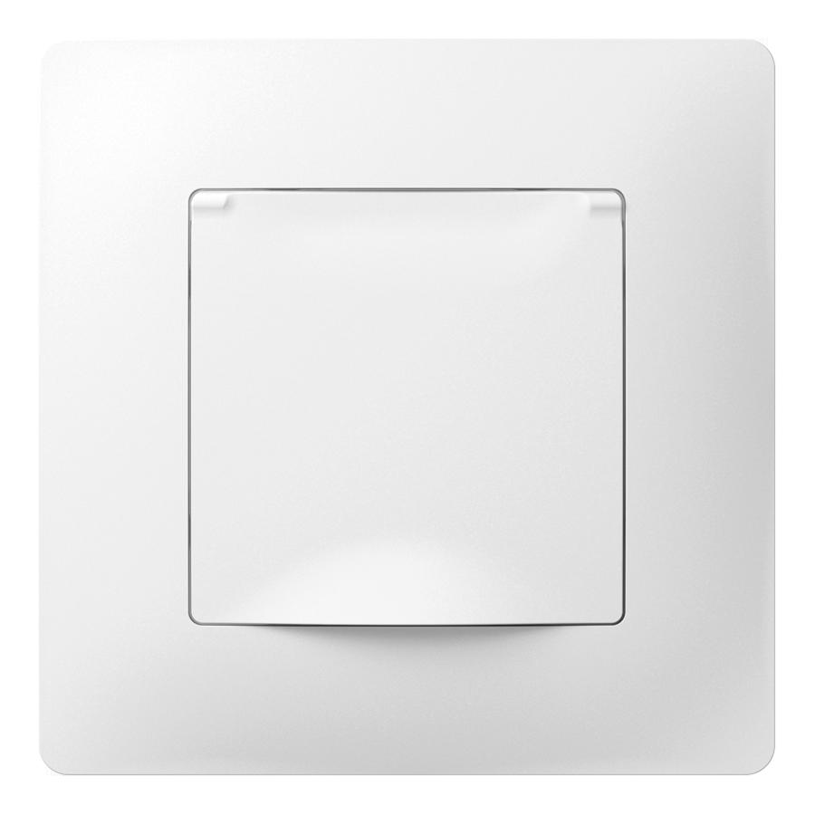 Розетка з кришкою з заземленням з захисною шторкою та металевим супортом image