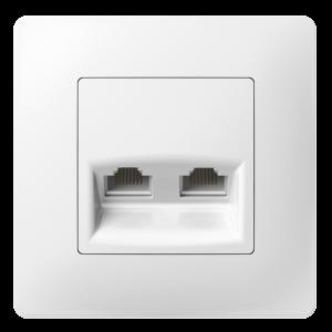 Комп'ютерна розетка подвійна з композитним супортом