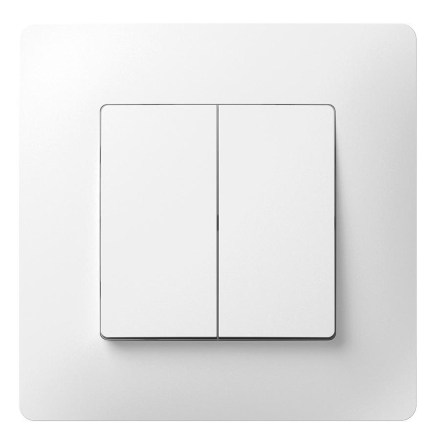 Перемикач прохідний двохклавішний з композитним супортом image
