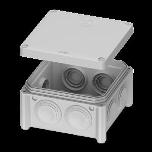 IB005 –  розподільчий бокс 85x85x40 відкритого монтажу
