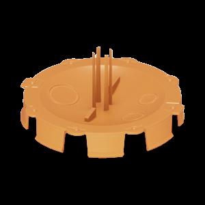 Кришка монтажного боксу для штукатурки, помаранчева D65
