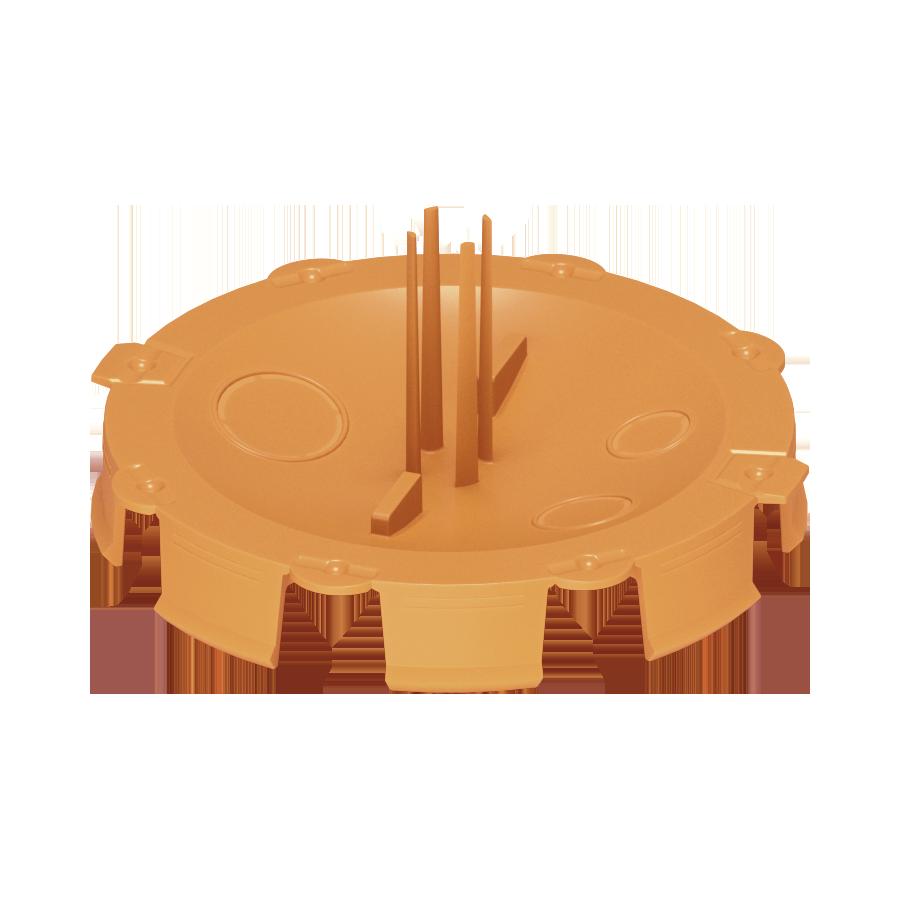 Кришка монтажного боксу для штукатурки, помаранчева D65 image