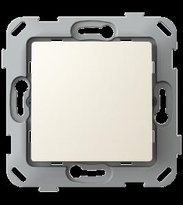Кнопка-вимикач без фіксації одноклавішна, слонова кістка