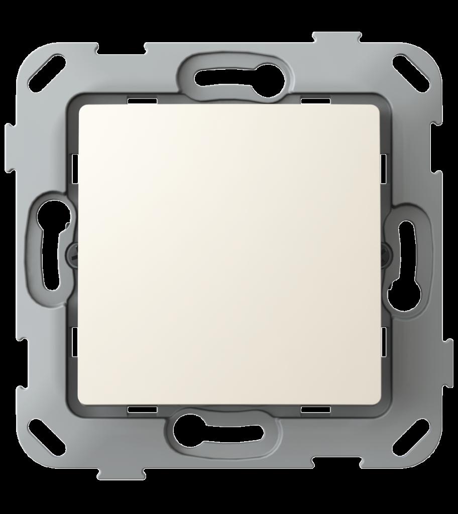 Кнопка-вимикач без фіксації одноклавішна, слонова кістка image