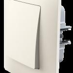 Classic вимикач одноклавішний з рамкою, кольору слонова кістка