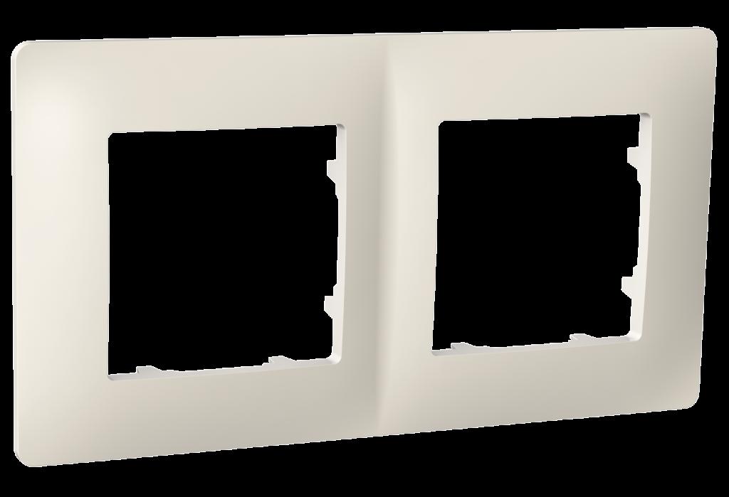 Рамка двомісна, серія CLASSIC, слонова кістка image