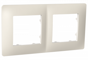 Рамка двомісна, серія CLASSIC, слонова кістка