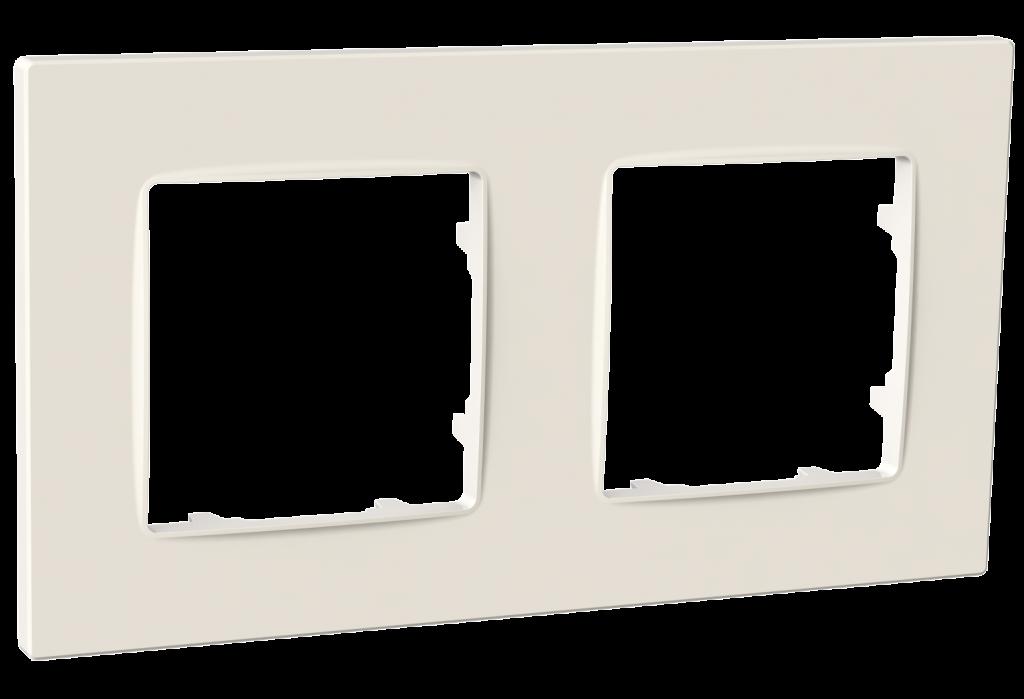 Рамка двомісна, серія NORDIC, слонова кістка image