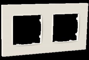 Рамка двомісна, серія NORDIC, слонова кістка