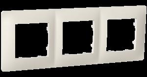 Рамка тримісна, серія CLASSIC, слонова кістка