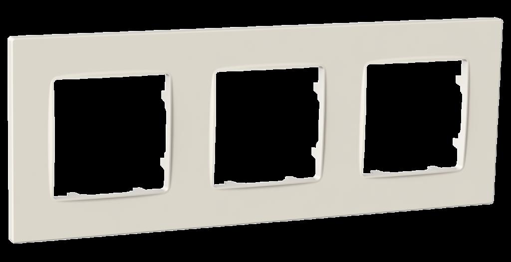 Рамка тримісна, серія NORDIC, слонова кістка image