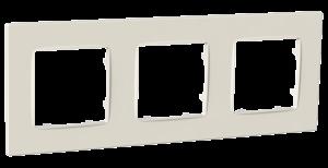 Рамка тримісна, серія NORDIC, слонова кістка