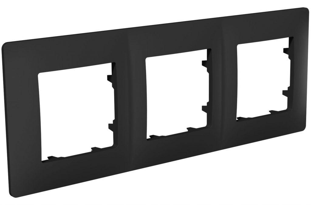 Рамка тримісна, серія CLASSIC, антрацит image