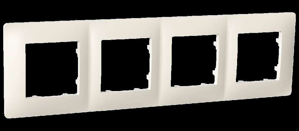 Рамка чотиримісна, серія CLASSIC, слонова кістка image
