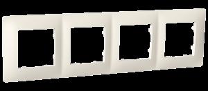 Рамка чотиримісна, серія CLASSIC, слонова кістка