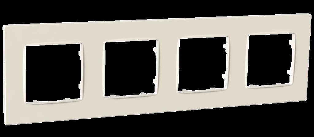 Рамка чотиримісна, серія NORDIC, слонова кістка image
