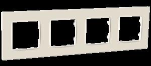 Рамка чотиримісна, серія NORDIC, слонова кістка