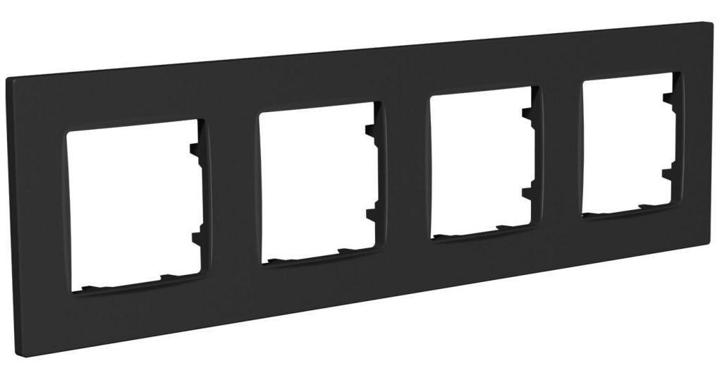 Рамка чотиримісна, серія NORDIC, антрацит image
