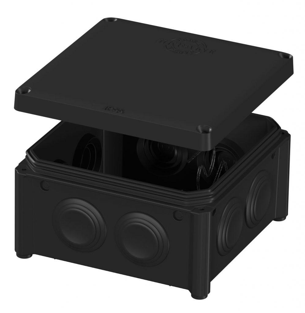 IB006 Vintage – розподільчий бокс 100x100x50 відкритого монтажу, карболітового кольору image