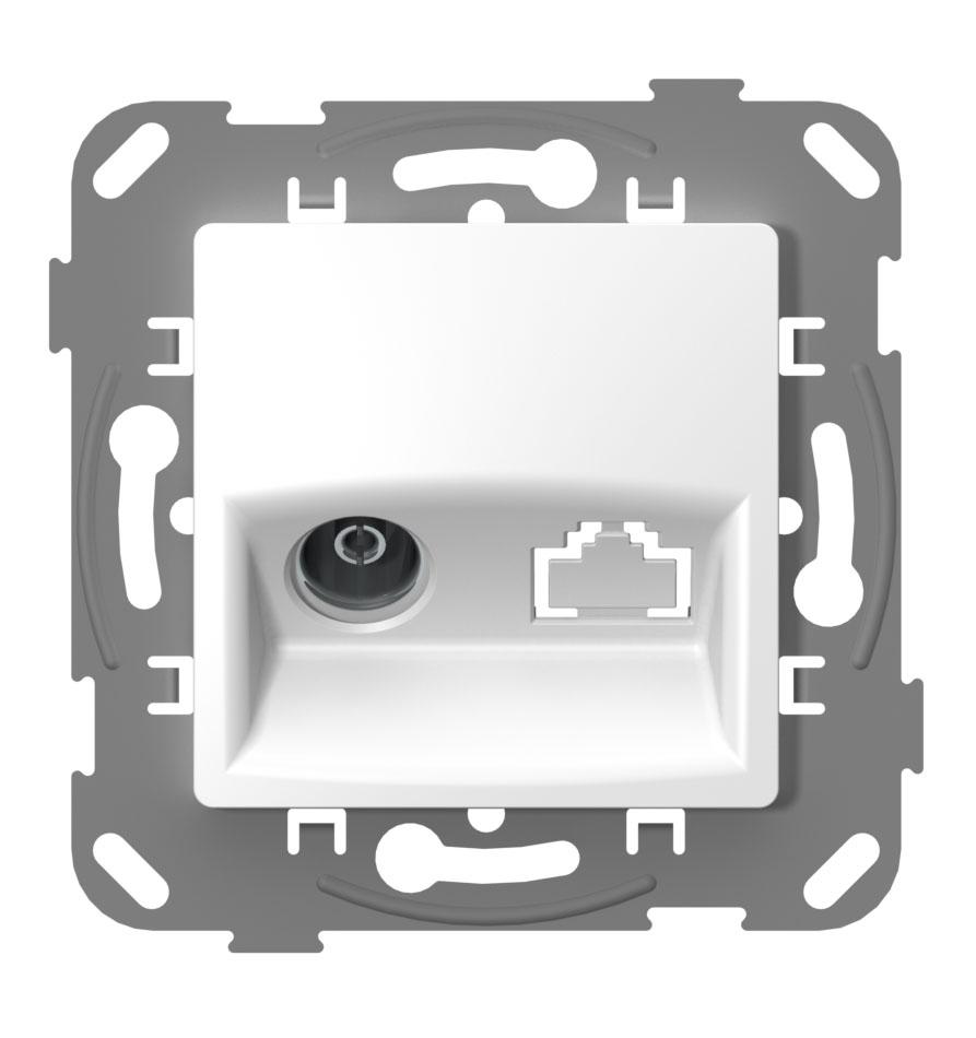 Телевізійна розетка кінцева з металевим супортом image
