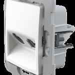 Механізм TV+RJ45 розетки біла Classic та Nordic композитний супорт
