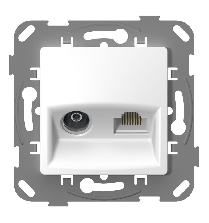 Телевізійна + комп'ютерна розетка image
