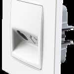 Nordic розетка TV з рамкою білого кольору