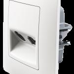 Classic розетка TV+RJ45 з рамкою білого кольору