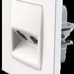 Nordic розетка TV+RJ45 з рамкою білого кольору