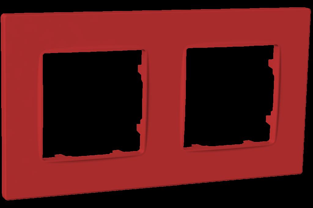 Рамка двомісна, серія NORDIC, бордо image