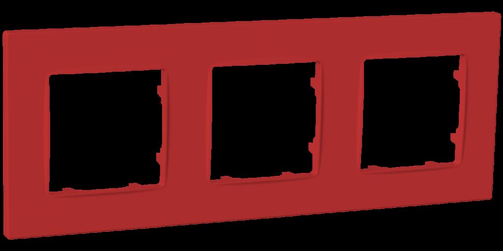 Рамка тримісна, серія NORDIC, бордо image
