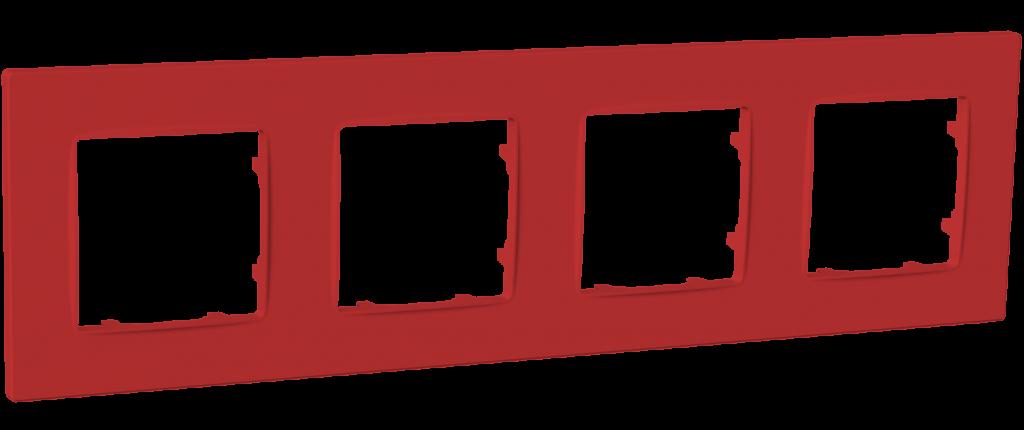 Рамка чотиримісна, серія NORDIC, бордо image