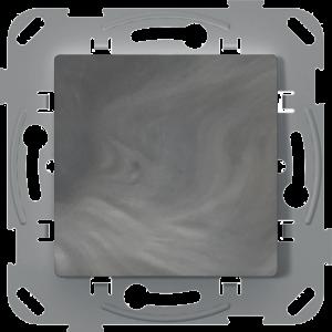 Перемикач прохідний одноклавішний, антимікробний, базальт