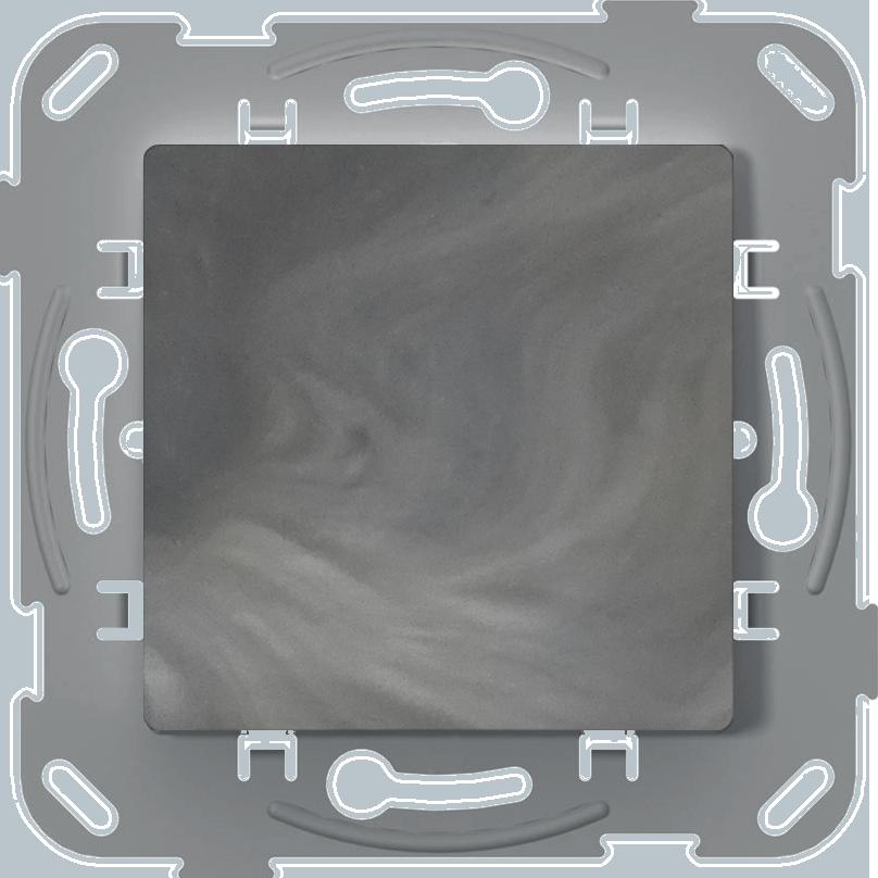 Вимикач одноклавішний, антимікробний, базальт image