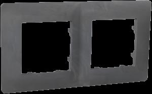 Рамка двомісна, серія CLASSIC, базальт