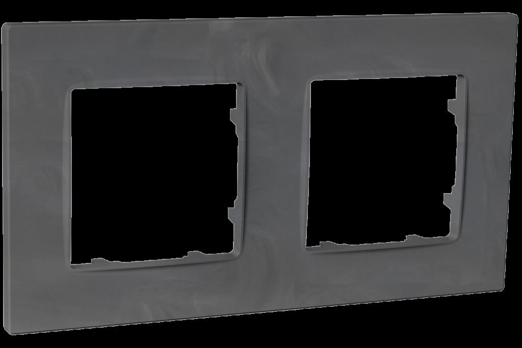 Рамка двомісна, серія NORDIC, базальт image