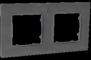 Рамка двомісна, серія NORDIC, базальт