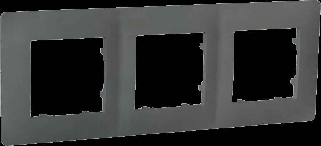 Рамка тримісна, серія CLASSIC, базальт image