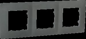Рамка тримісна, серія CLASSIC, базальт
