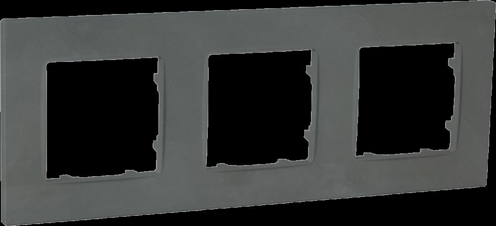 Рамка тримісна, серія NORDIC, базальт image