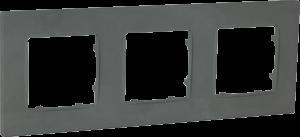 Рамка тримісна, серія NORDIC, базальт